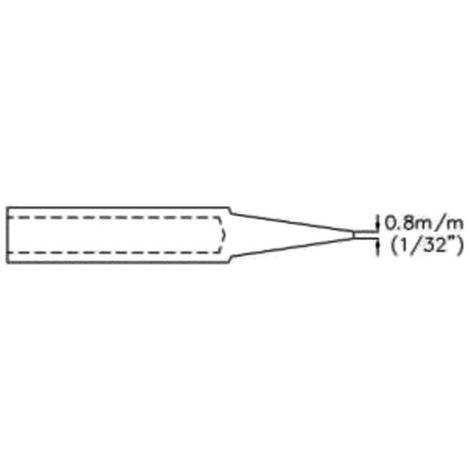"""Panne De Fer À Souder - Conique - 0.8 Mm (1/32"""")"""