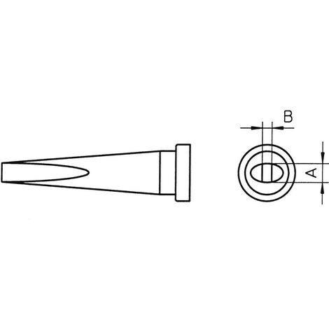 Panne de fer à souder forme de burin, longue Weller LT-L T0054441499 Taille de la panne 2 mm 1 pc(s)