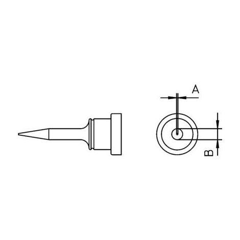 Panne de fer à souder forme ronde, longue Weller LT-1S 54443699 Taille de la panne 0.2 mm 1 pc(s)