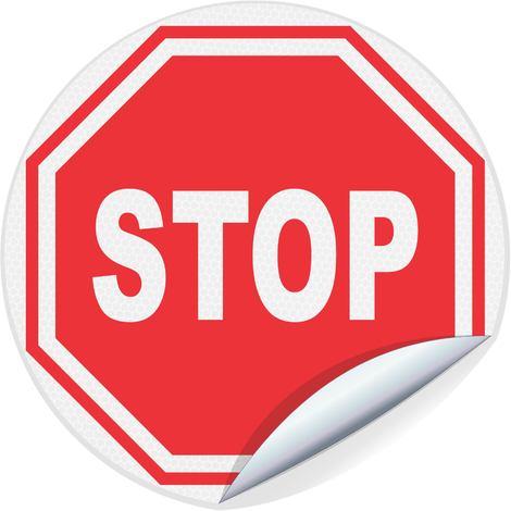Panneau adhésif Stop - Classe 1 - Ø300mm - 4037400