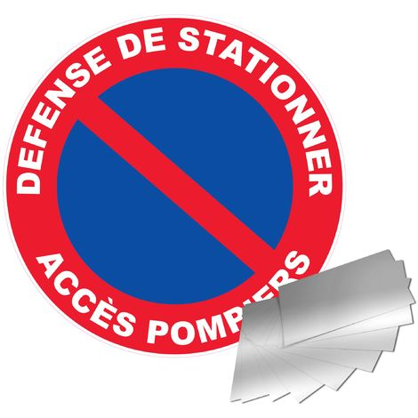 Panneau Aluminium Défense de stationner - Accès pompier - Novap