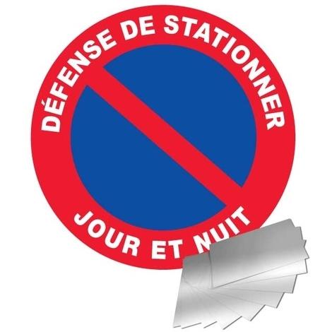 Panneau Aluminium Défense de stationner - Jour et Nuit - Novap
