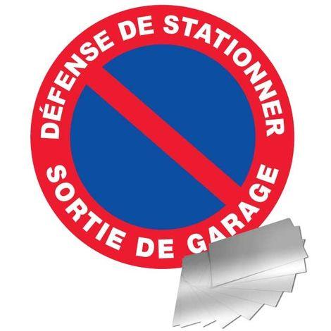Panneau Aluminium Défense de stationner - Sortie de garage - Novap