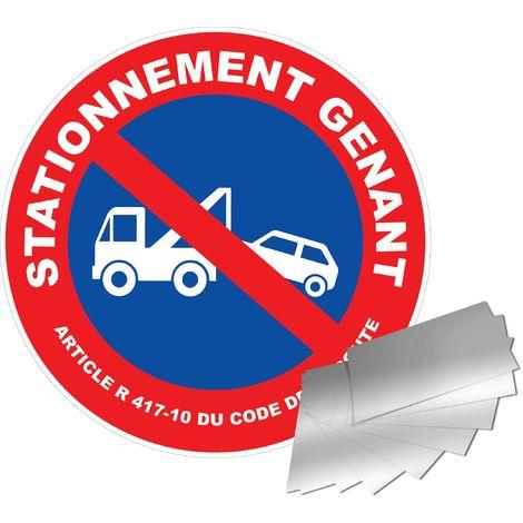 Panneau Aluminium Stationnement gênant - Novap
