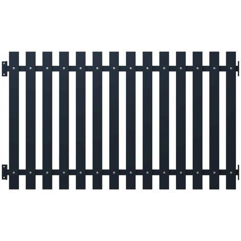 Panneau clôture Anthracite 170,5x125 cm Acier enduit de poudre