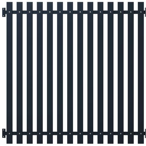 Panneau clôture Anthracite 170,5x170 cm Acier enduit de poudre