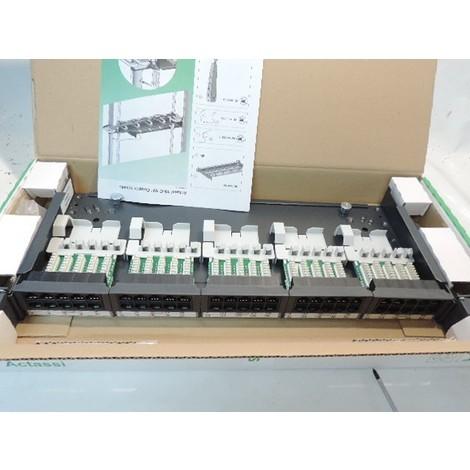 """Panneau coulissant 50 ports 19"""" 1U 2 rangées équipé telecom RJ11 pour baie et coffret VDI ACTASSI LEXCOM SCHNEIDER VDIG141501"""