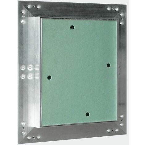 Panneau d'accès cadre aluminium inspection de plaques de plâtre 40x40cm porte Alu