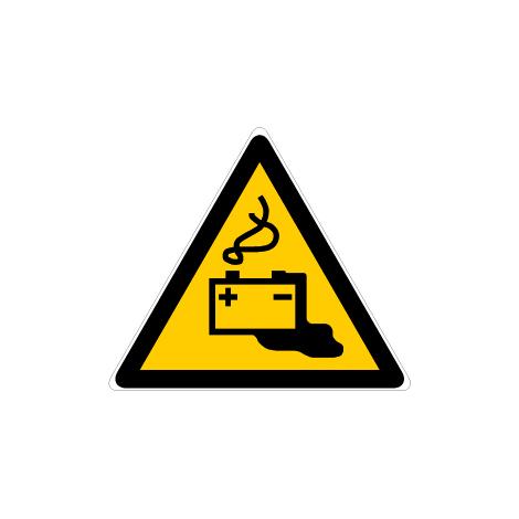Panneau Danger charge de la batterie en cours - Novap