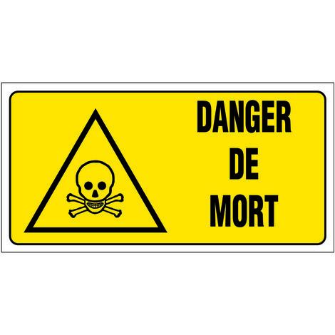 Panneau Danger de mort - Rigide 960x480mm - 4000435