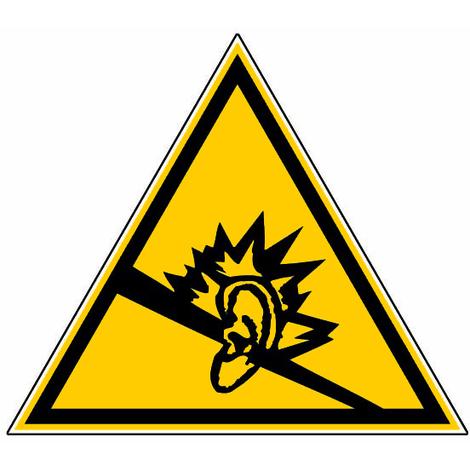 Panneau Danger dû au bruit - Novap