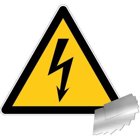 Panneau Danger électrique - Alu triangle 100mm - 4010366