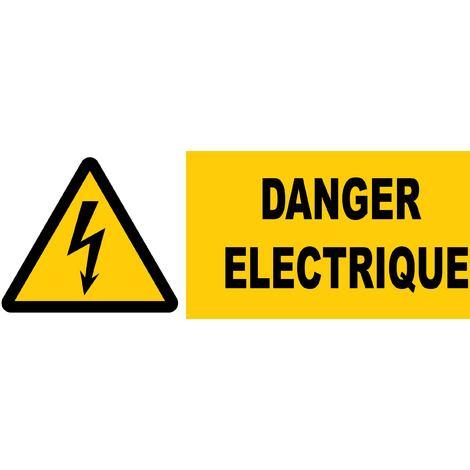 Panneau Danger éléctrique - Rigide 450x150mm - 4062914
