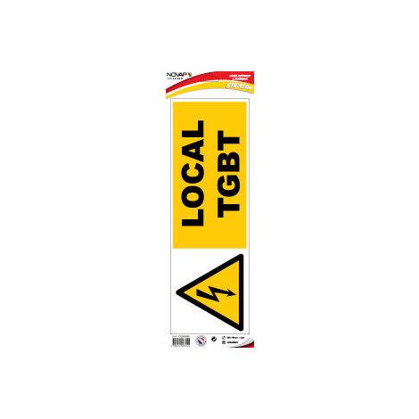 Panneau Danger Local TGBT - Adhésif 450x150mm - 4067025