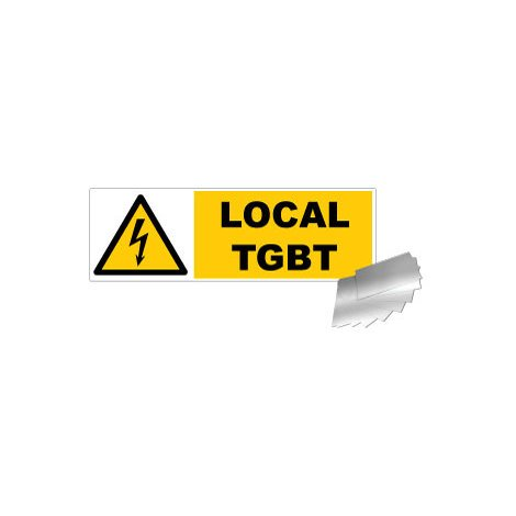 Panneau Danger Local TGBT - Alu 450x150mm - 4010755