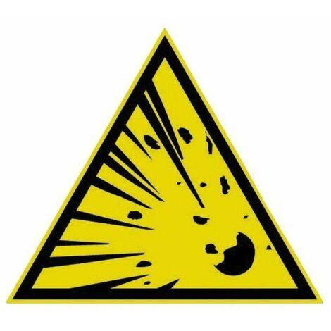 Panneau Danger matières explosives - Novap