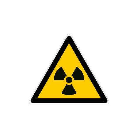 Panneau Danger matières radioactives ou radiations ionisantes - Rigide Triangle 100mm - 4180069