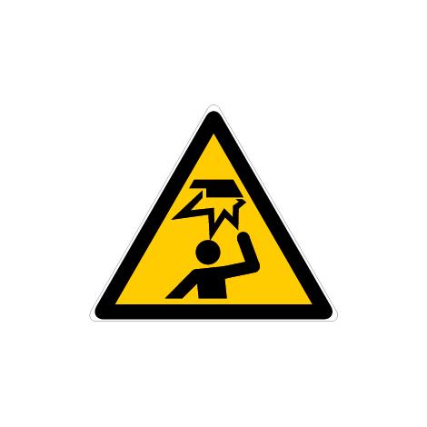 Panneau Danger obstacle en hauteur - Novap