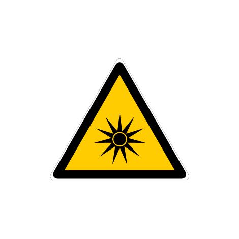Panneau Danger rayonnement optique - Novap
