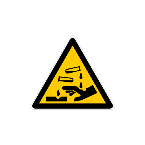 Panneau Danger substances corrosives - Novap