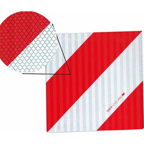 Panneau d'avertissement angle gauche aluminium