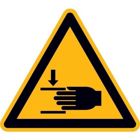 Panneau d'avertissement Risques de blessures aux main - 50mm - - autocollants - 10 unités