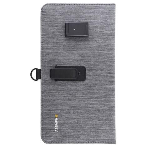 Panneau de charge solaire mobile 14W Sac pliant solaire portable super mince Double port USB Chargeur de telephone portable solaire exterieur Gris, modele: Gris 67
