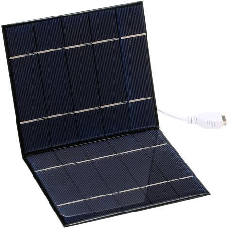 Panneau de charge solaire pliant 7W 7W-2Z Telephone portable solaire / chargeur de banque d'alimentation