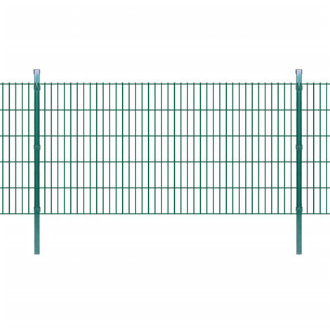 Panneau de clôture 2D de jardin +poteaux 2008x1030mm 2m Vert