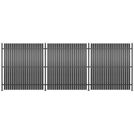 Panneau de clôture 3 pcs Aluminium 540 x 180 cm Anthracite