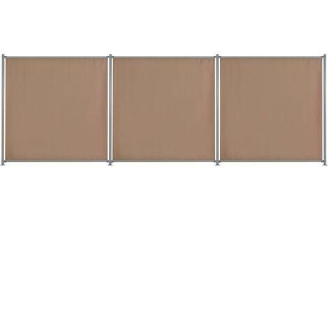 Panneau de clôture 3 pcs Tissu 540x180 cm Taupe