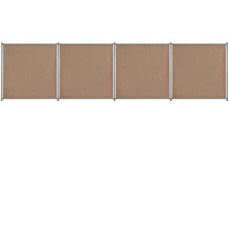 Panneau de clôture 4 pcs Tissu 720x180 cm Taupe