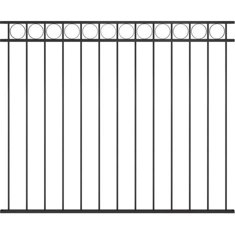 Panneau de clôture Acier 1,7x1,5 m Noir