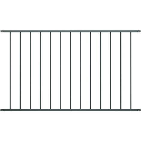 Panneau de clôture Acier enduit de poudre 1,7x0,75 m Anthracite