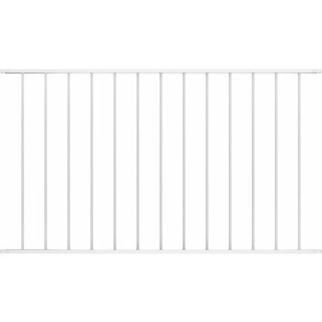 Panneau de clôture Acier enduit de poudre 1,7x0,75 m Blanc
