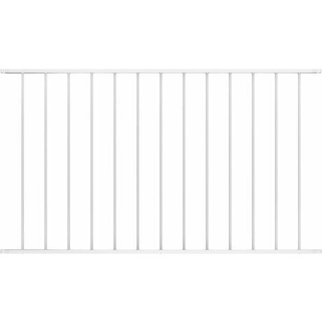 Panneau de clôture Acier enduit de poudre 1,7x1 m Blanc