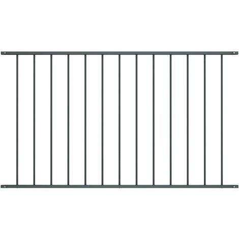 Panneau de clôture Acier enduit de poudre 1,7x1,25 m Anthracite