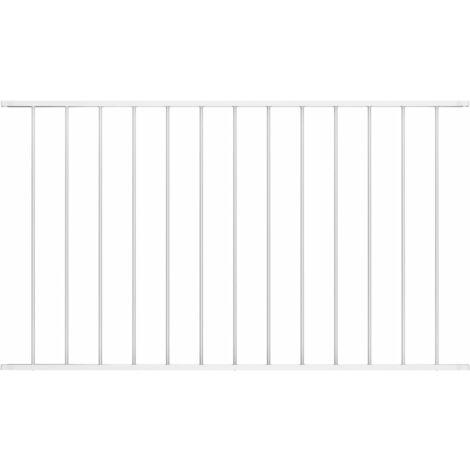 Panneau de clôture Acier enduit de poudre 1,7x1,25 m Blanc