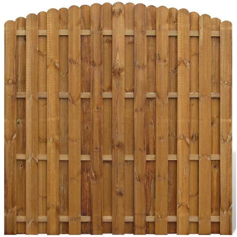 Panneau De Cloture Arque En Bois Avec Planches Intercalees