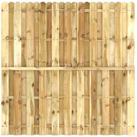 Panneau de clôture Bois de pin imprégné 180x180 cm