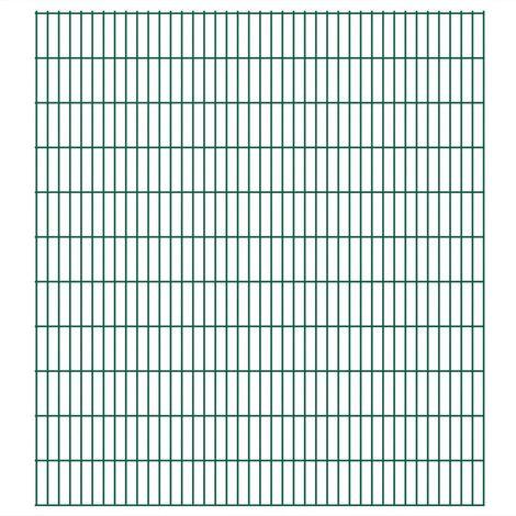 Panneau de clôture de jardin 2D 2008x2230 mm 4 m Vert
