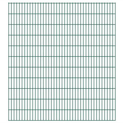 Panneau de clôture de jardin 2D 2008x2230 mm 6 m Vert