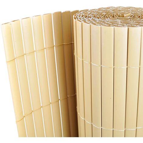 Panneau de clôture PVC 150 x 300 cm Jaune