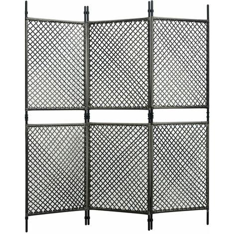 Panneau de clôture Résine tressée 1,8x2 m Anthracite