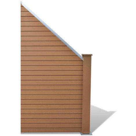 Panneau de clôture WPC 105 x (105-185) cm Marron