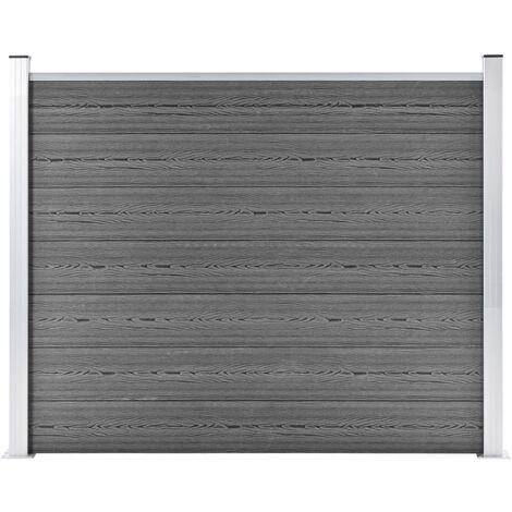 Panneau de clôture WPC 180x146 cm Gris