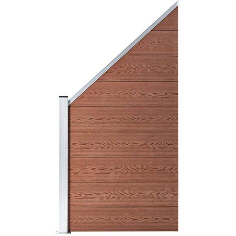 Panneau de clôture WPC 90 x(100-180) cm Marron