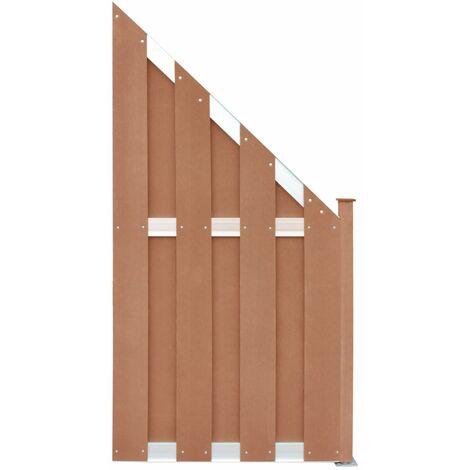 Panneau de clôture WPC 90x180 cm Marron