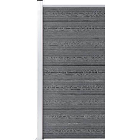 Panneau de clôture WPC 95x186 cm Gris