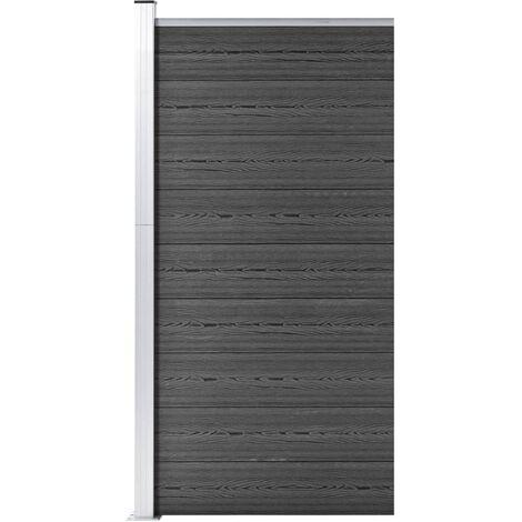 Panneau de clôture WPC 95x186 cm Noir